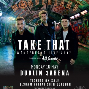 Take That Live Concert at 3Arena Dublin Ireland