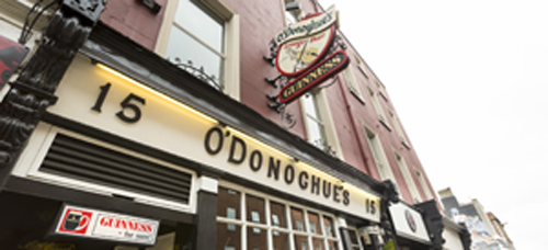 O'Donoghues Bar and Accommodations Dublin Ireland